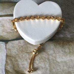 925 sterling silver Honeycomb Slide Bracelet